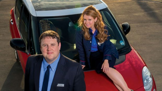 Peter Kay as John and Sian Gibson as Kayleigh in Car Share (BBC)