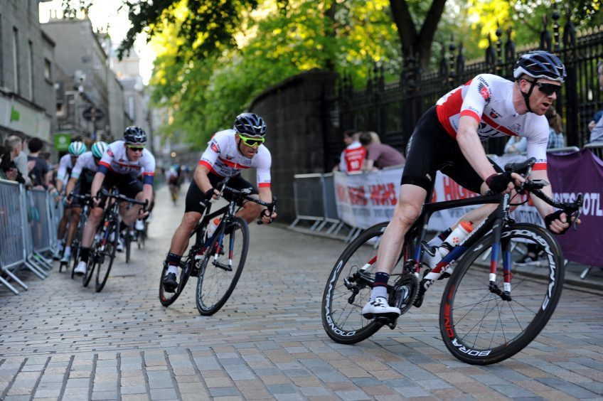 Tour Series Cycling Round 8 Aberdeen Elite Race Pictured are the racers in action. Picture by DARRELL BENNS     Pictured on 25/05/2017