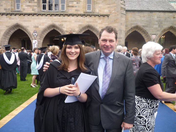 Sarah and her proud father Murdo Murchison.