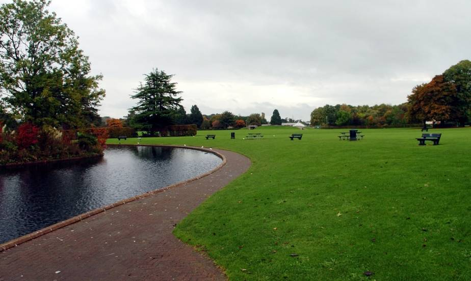 Cooper Park, Elgin, where the attack took place