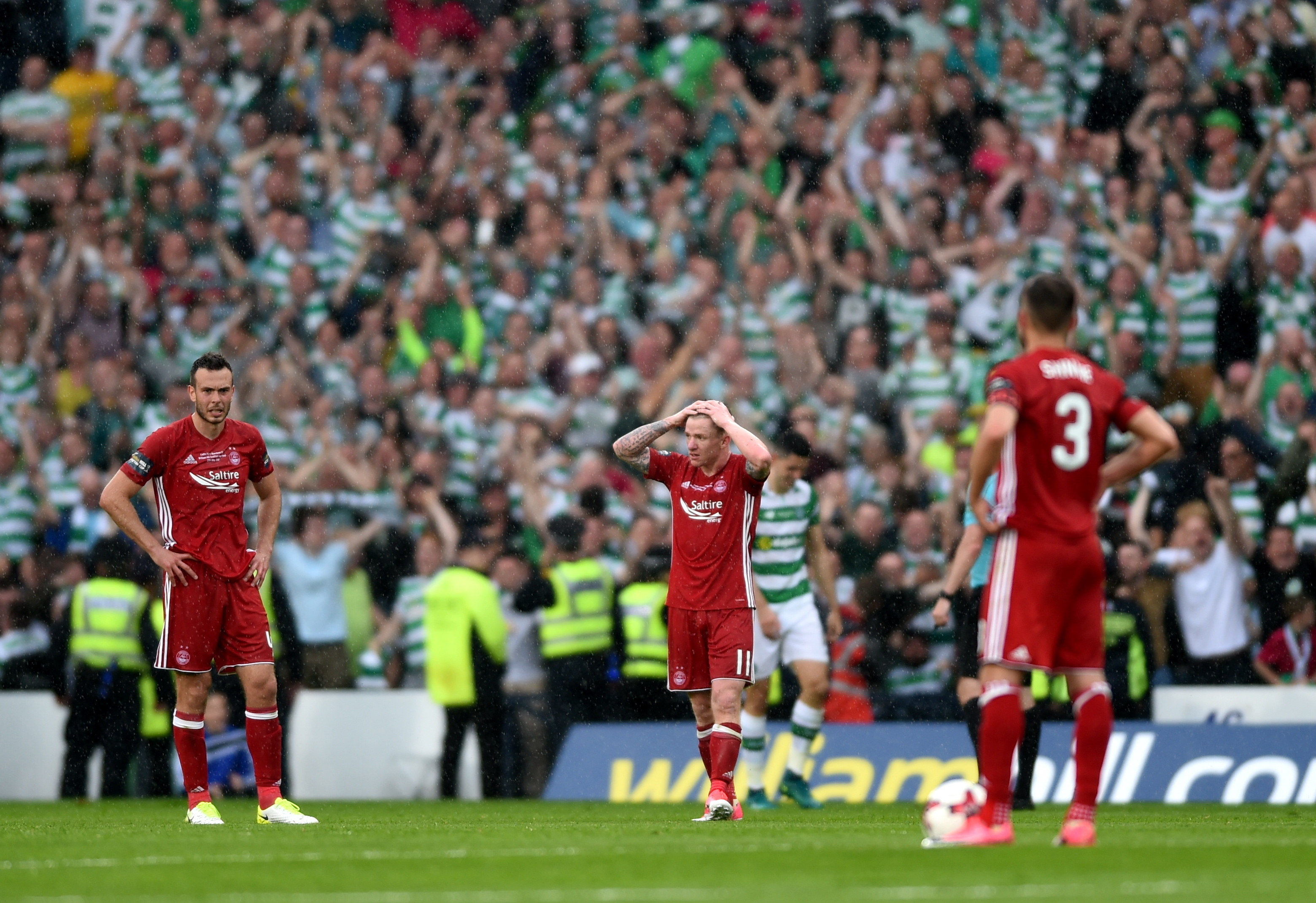Aberdeen came close to winning the Scottish Cup under McInnes in 2017, losing 2-1 to Celtic at Hampden.