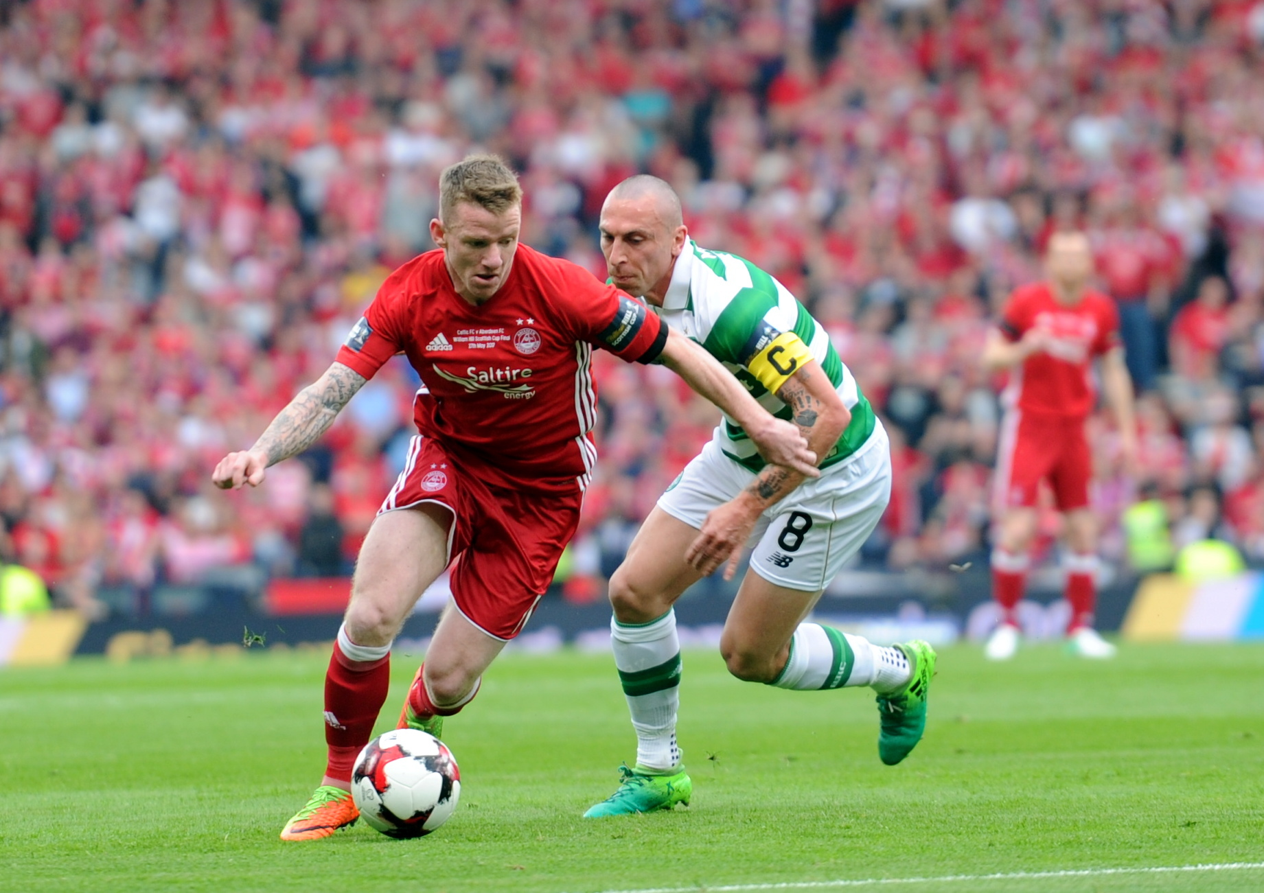 Hayes in action against Celtic.