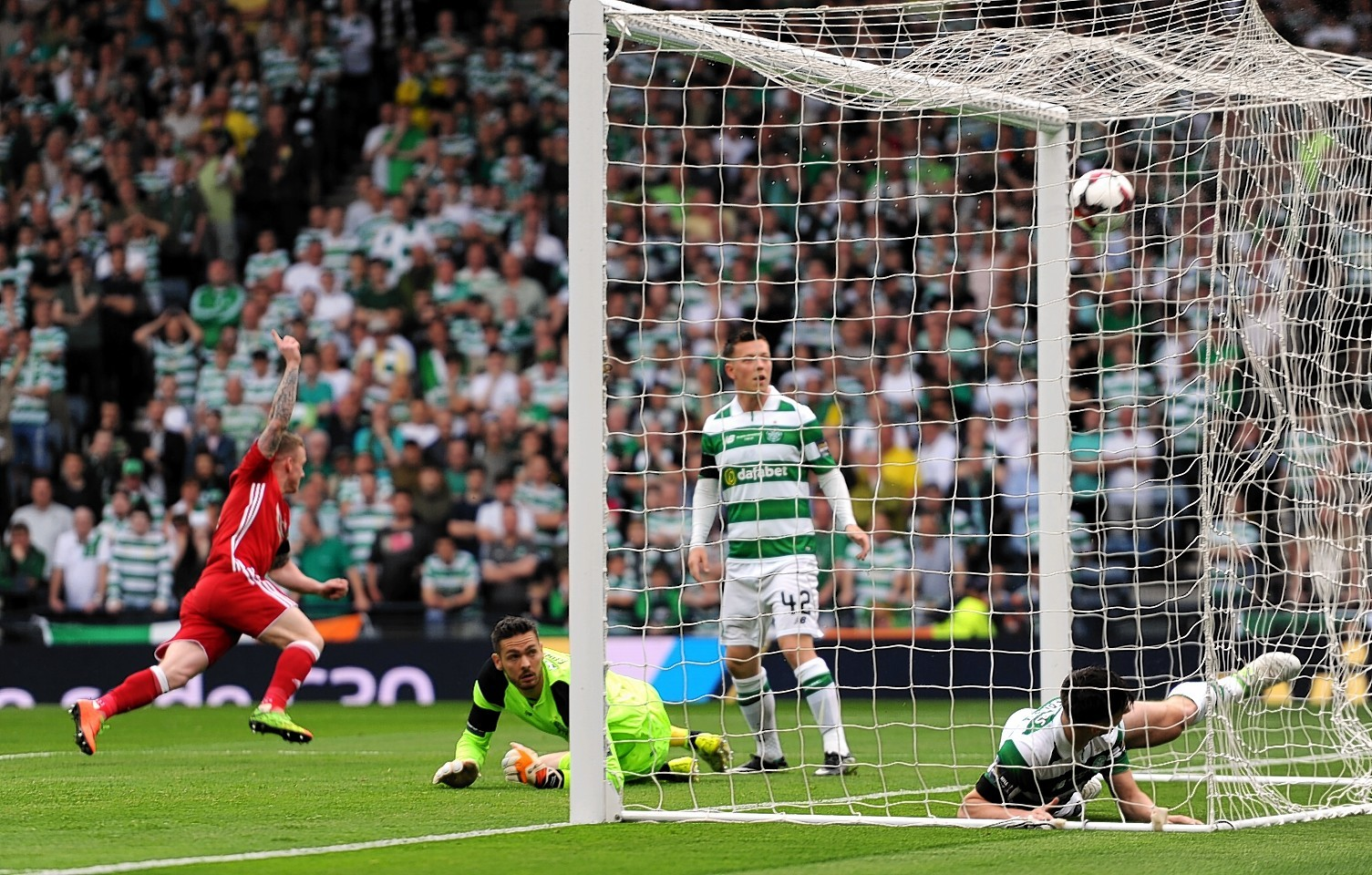 Hayes netting in the Scottish Cup final in 2017.