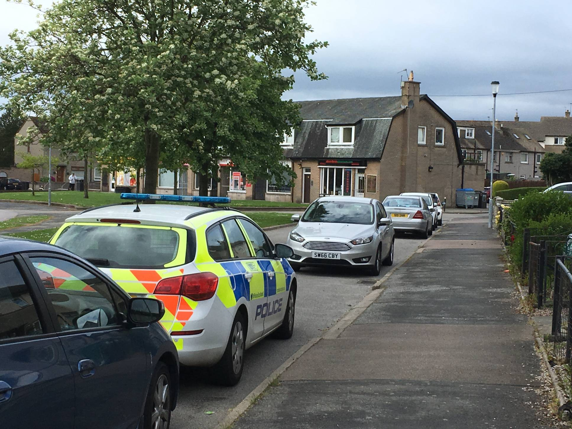 Police at the scene in Summerhill