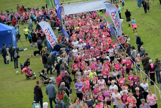 A previous Race for Life in Aberdeen