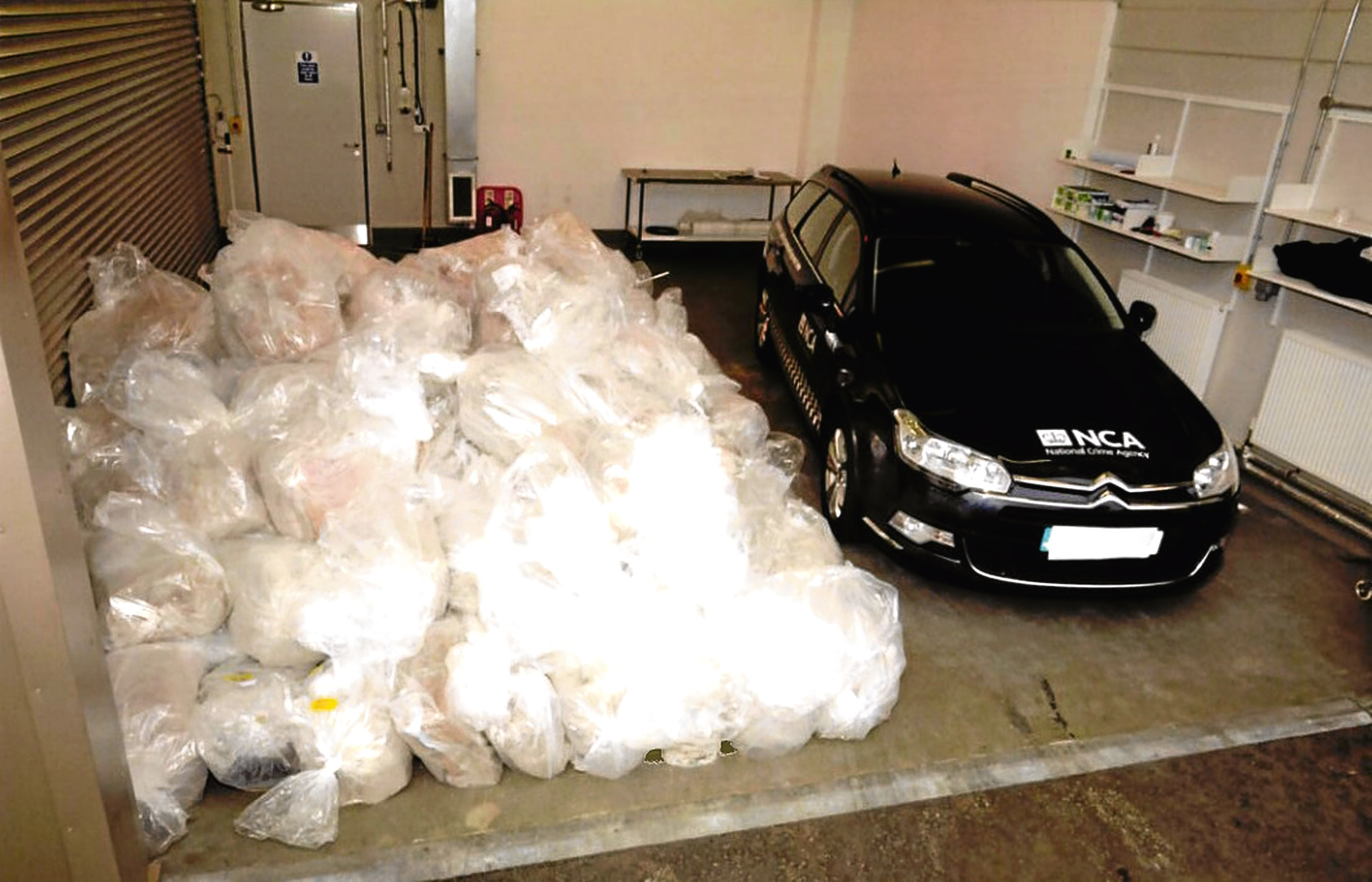 The huge quantity of drugs found on the boat 100 miles from Aberdeen.