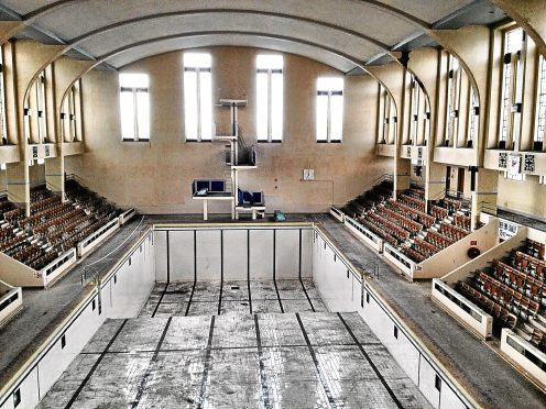 The Bon Accord Baths in Aberdeen's Justice Mill Lane has lain empty since 2008.     Submitted for Samantha Leckie Series    24/07/15