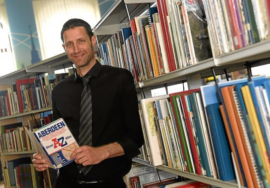 David Main is running an A-Z of all the libraries in Aberdeen, raising money for charity.