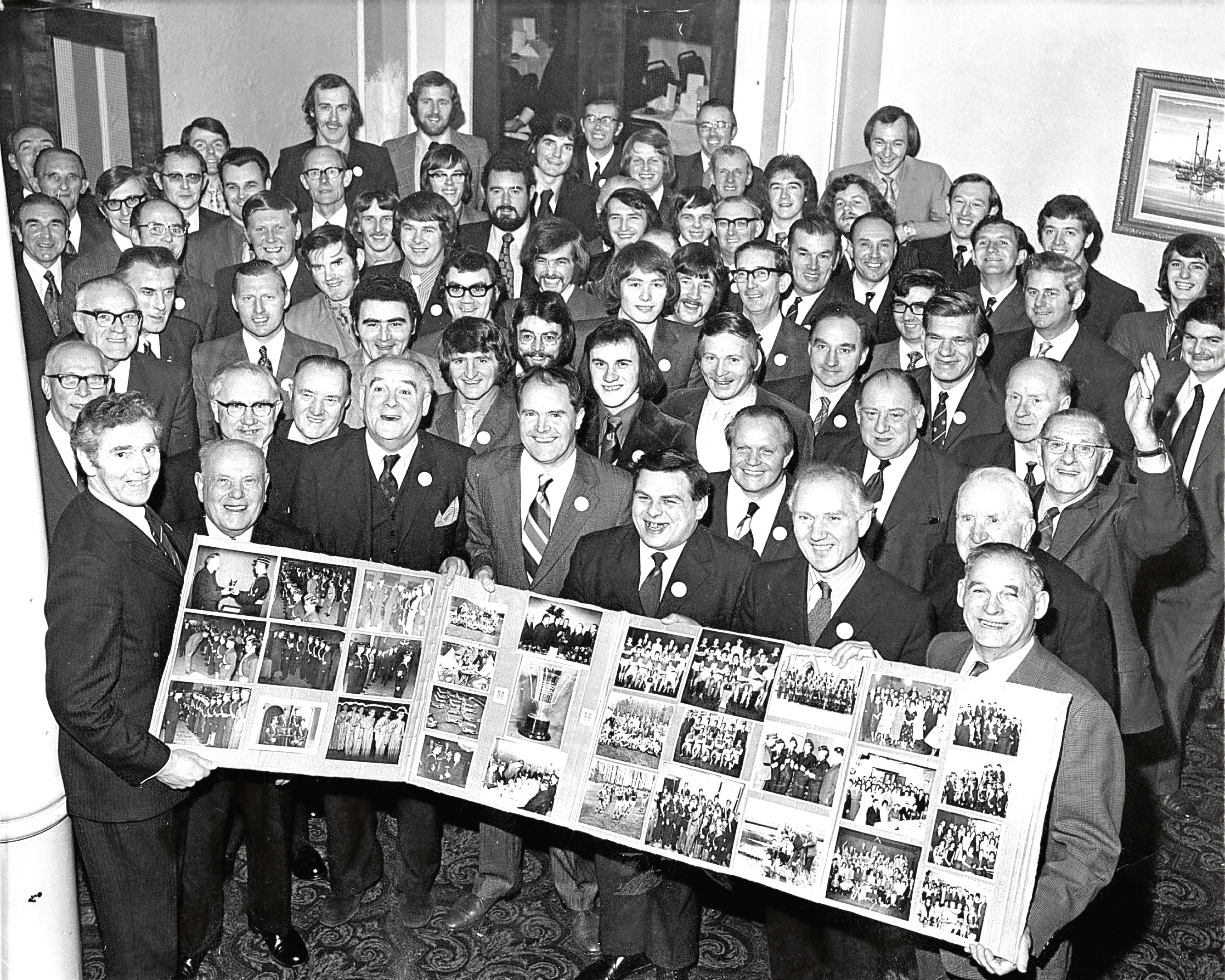 Veterans of the 12th Aberdeen (Ferryhill North Church) Company celebrating its 75th birthday.