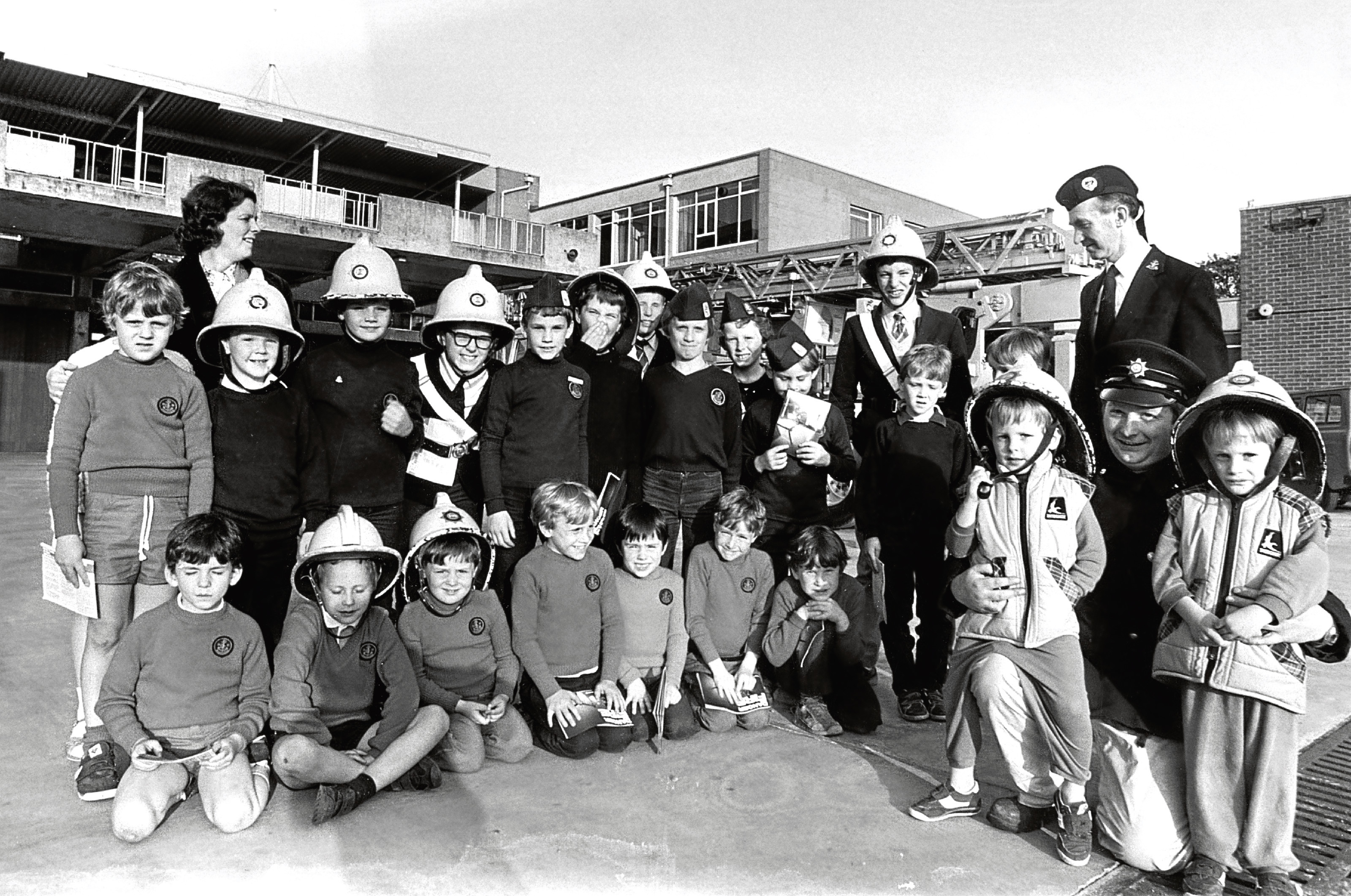 70th Aberdeen Boys' Brigade Company members on a visit to Grampian Fire Brigade HQ.