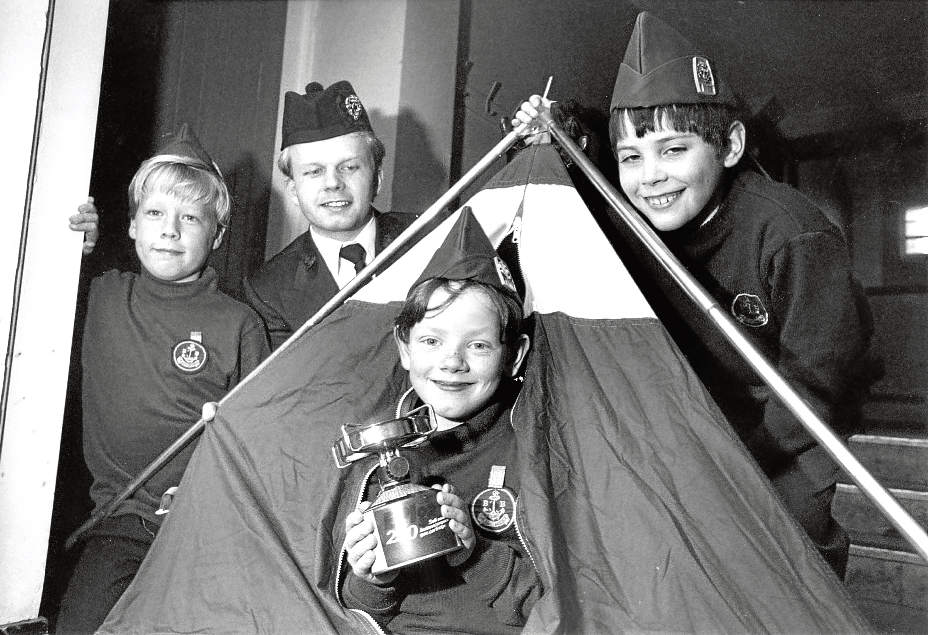 48th Aberdeen Boys' Brigade members' new tent.