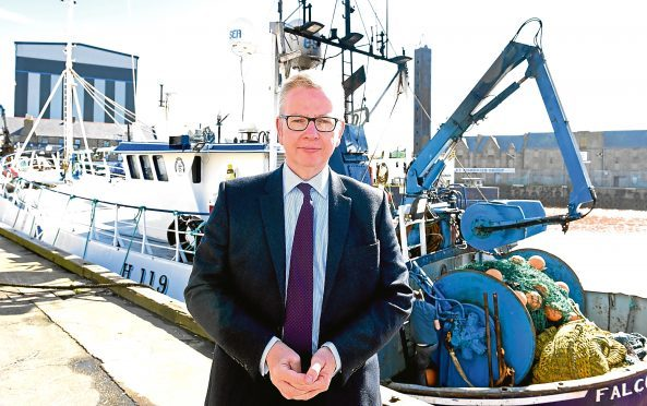 Environment Secretary Michael Gove spoke while he was in Peterhead.