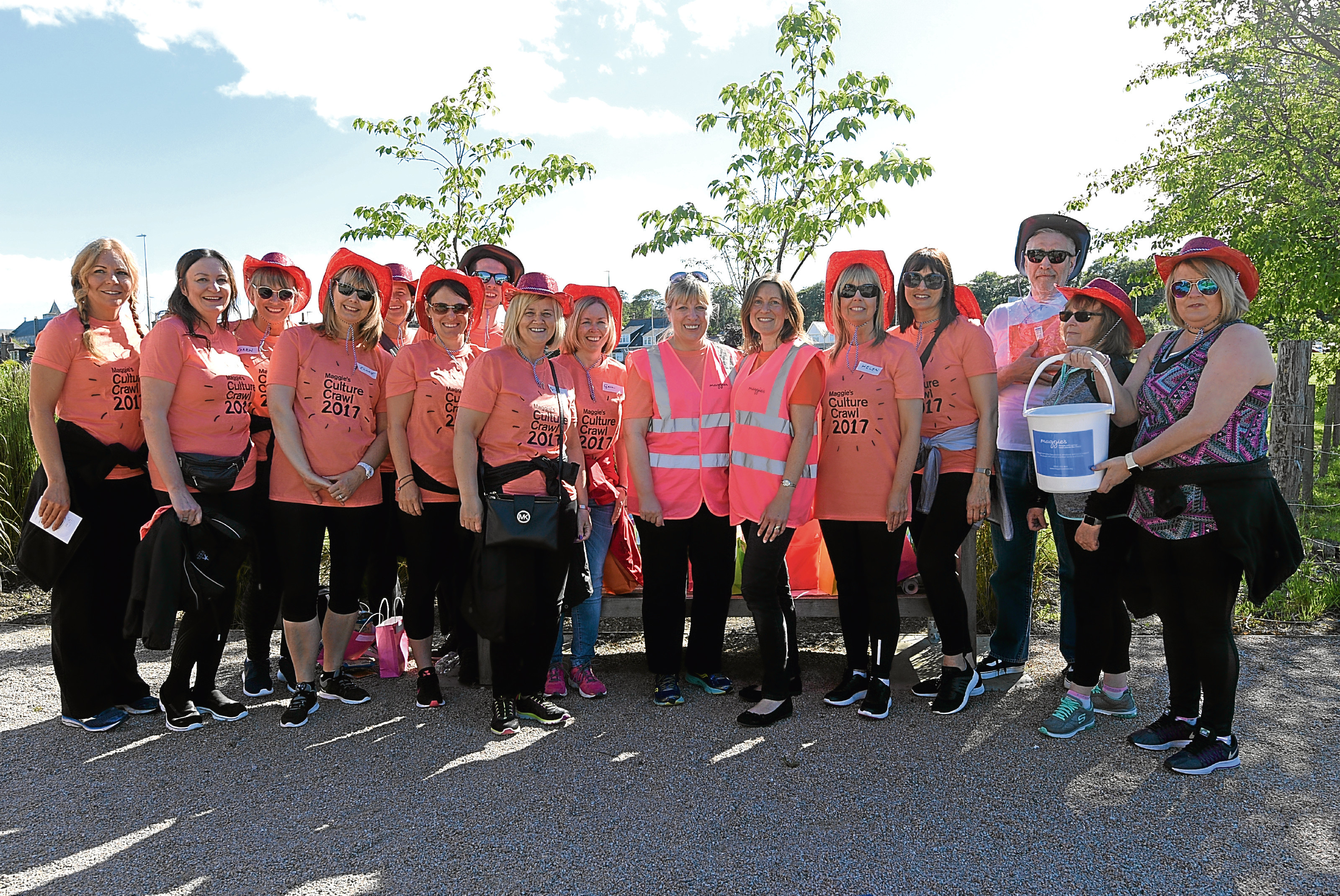 Participants ahead of the cultural walk.
