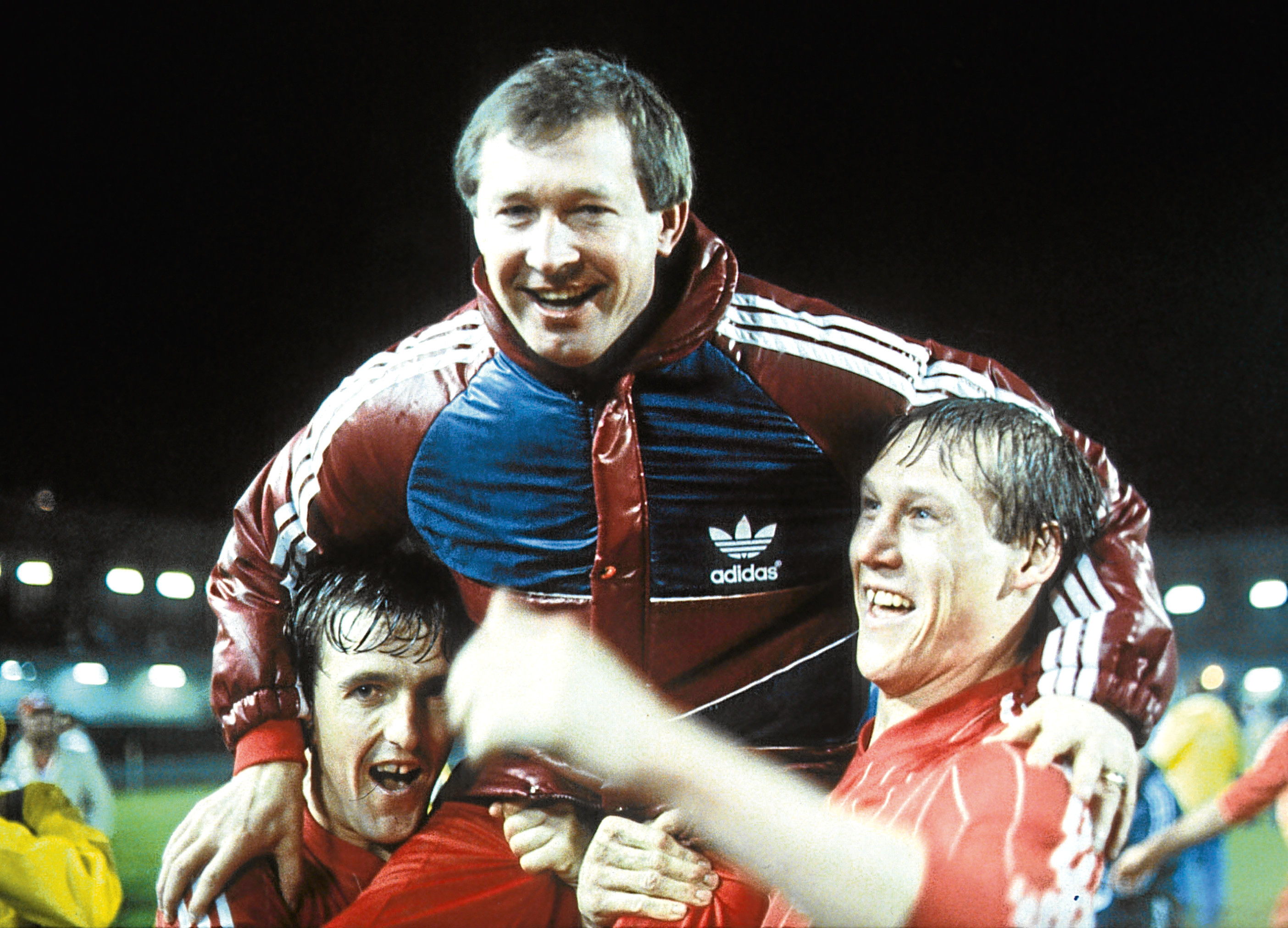Alex Ferguson in his Dons glory days in Gothenburg.