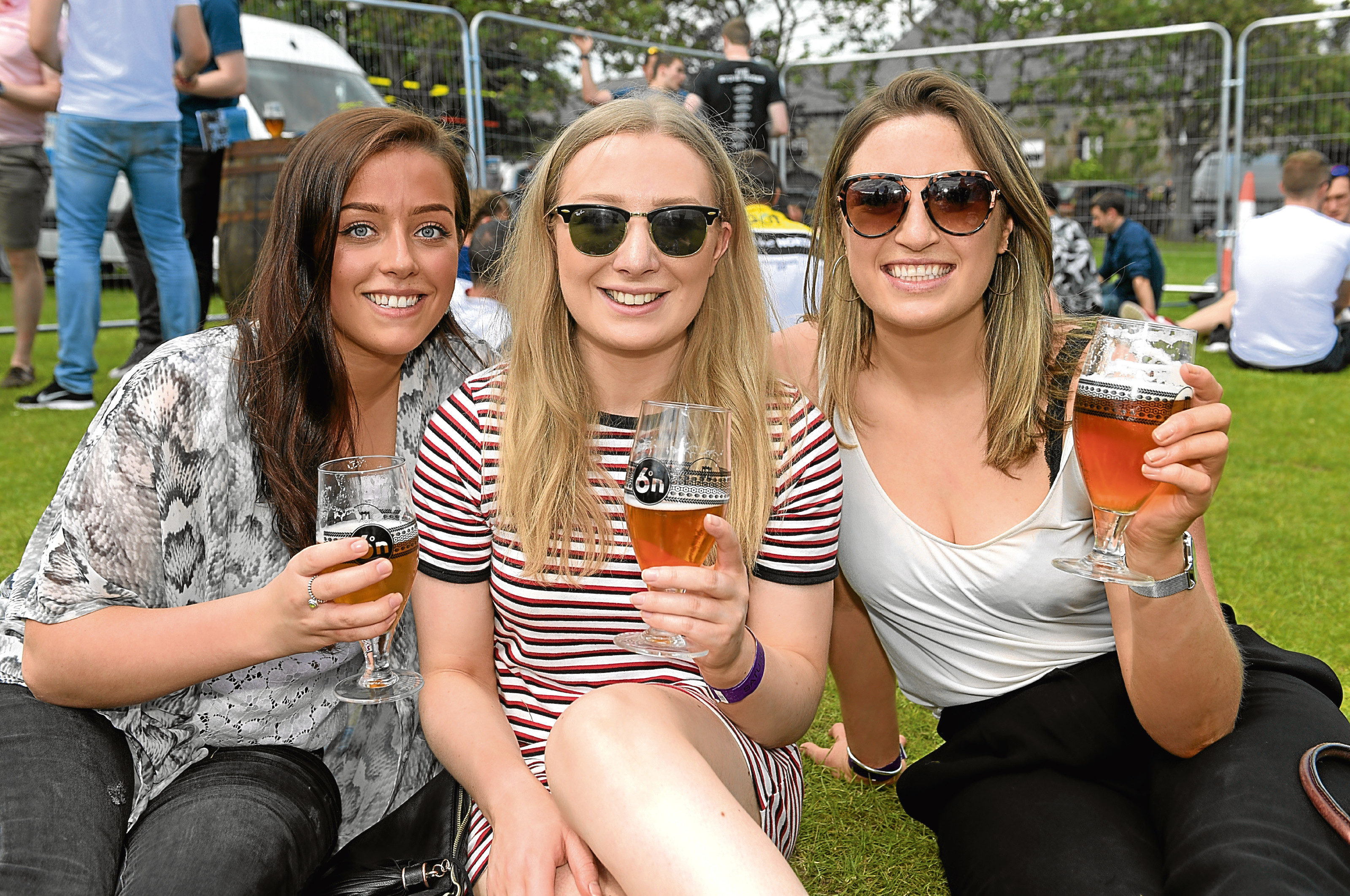 From left, Keri Campbell, Laura Syme and Rachel Scott at the Midsummer Beer Happening.