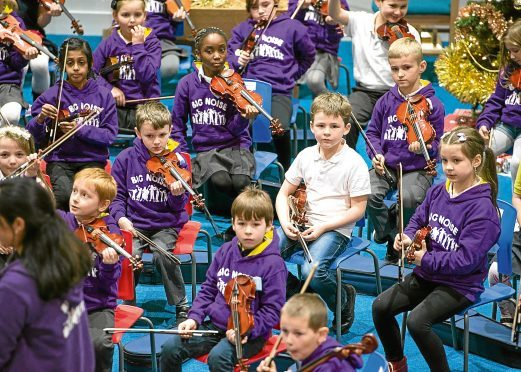 Pupils have benefited from taking part in Big Noise Torry.