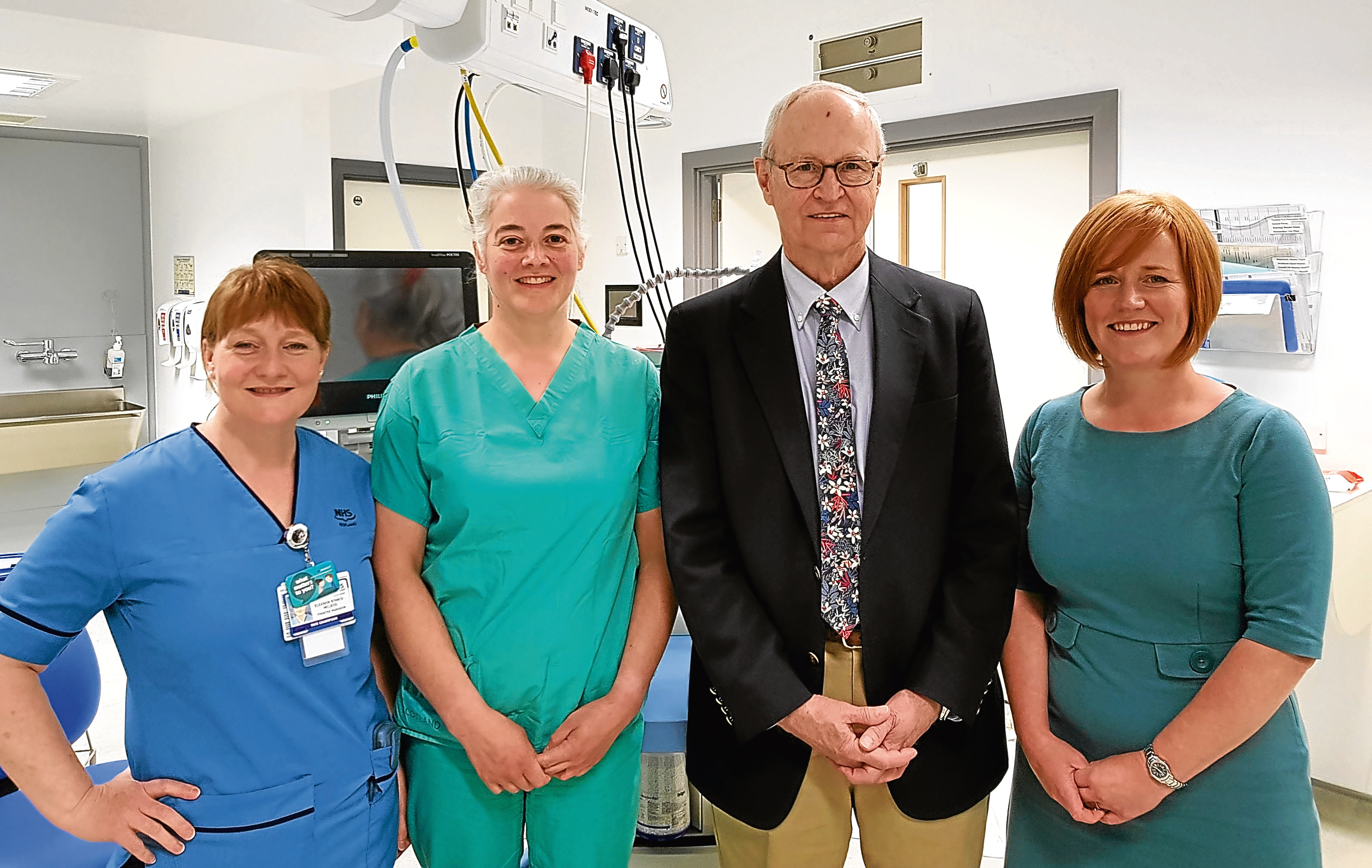 Theatre nurse manager Eleanor Binnie-Mcleod, emergency theatre team leader Esther Fowler, IHO senior clinical fellow Michael Long and Scottish Government service improvement manager Linda Sparks.