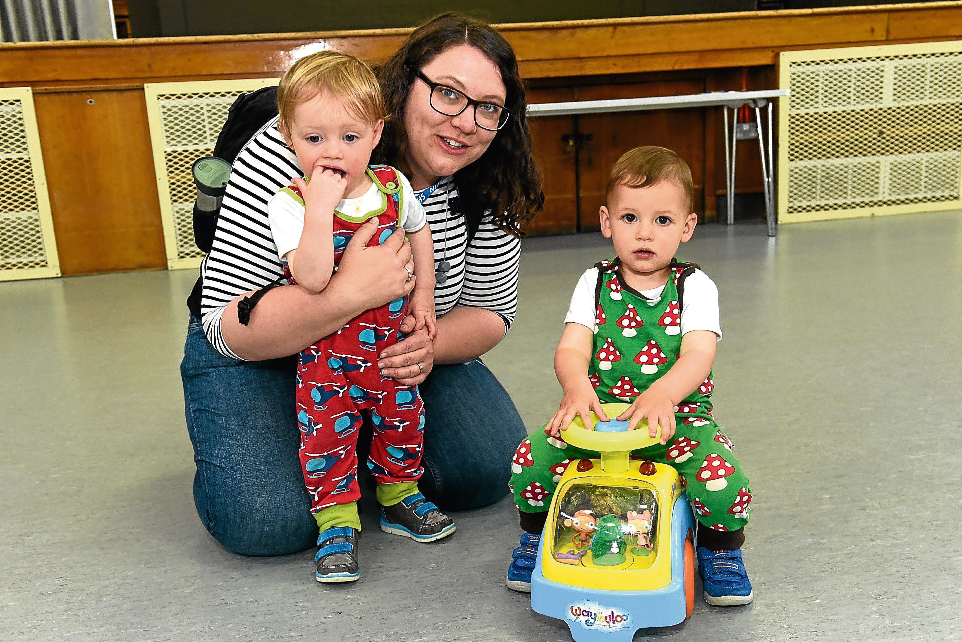 Hayley Lockerbie pictured with her sons Alexander, right, and Findlay.