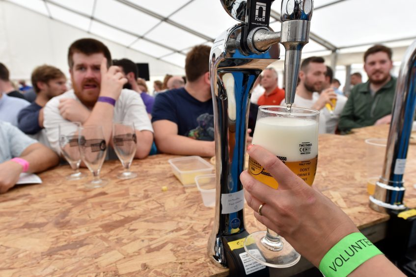 One of Scotland's biggest beer festivals, Midsummer Beer Happening 2017, at Baird Park, Stonehaven.  Picture by KENNY ELRICK     17/06/2017