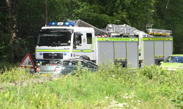 The crash happened on the A93, near Inchmarlo.