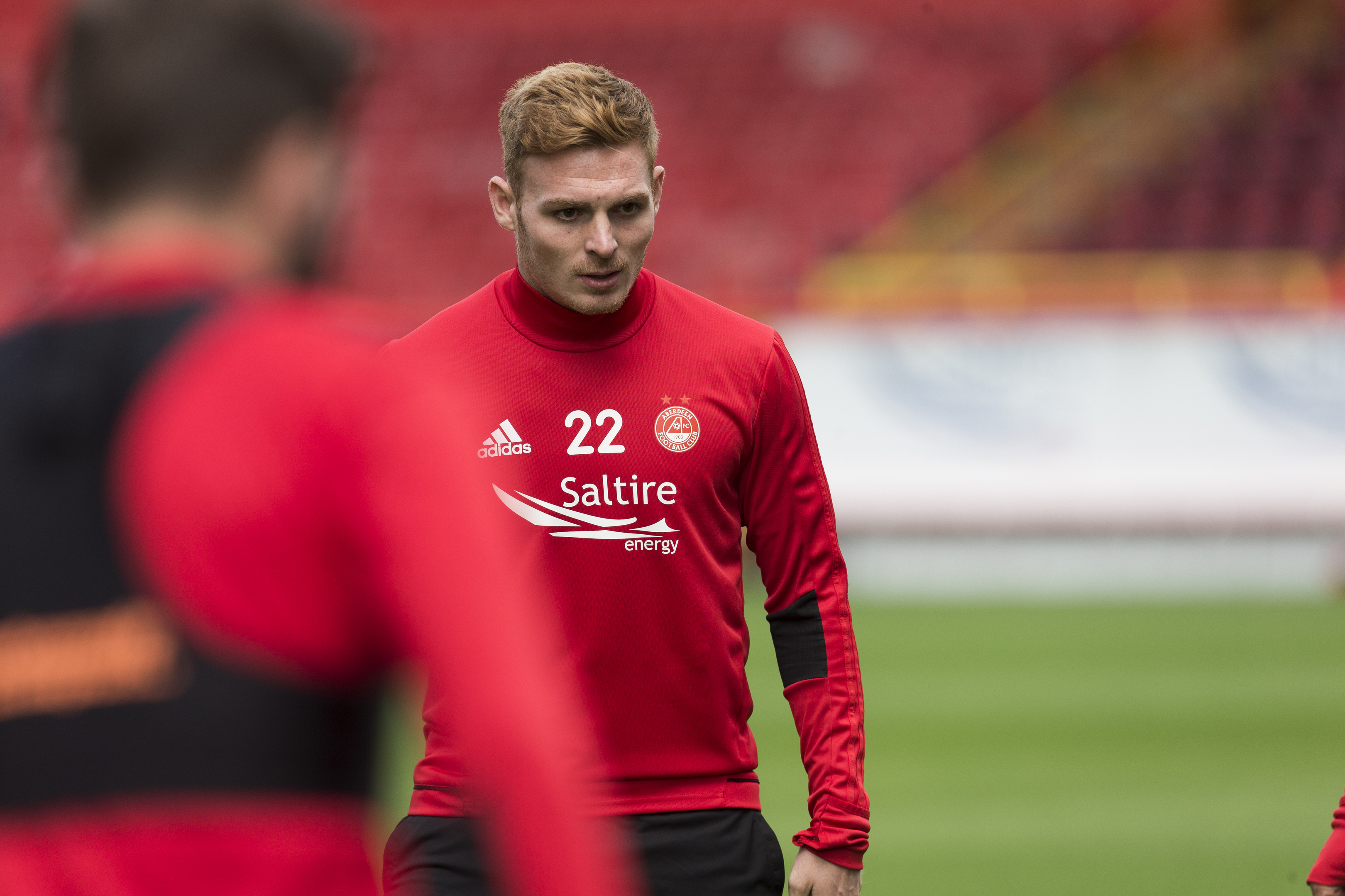 Fraser Fyvie training with Aberdeen.