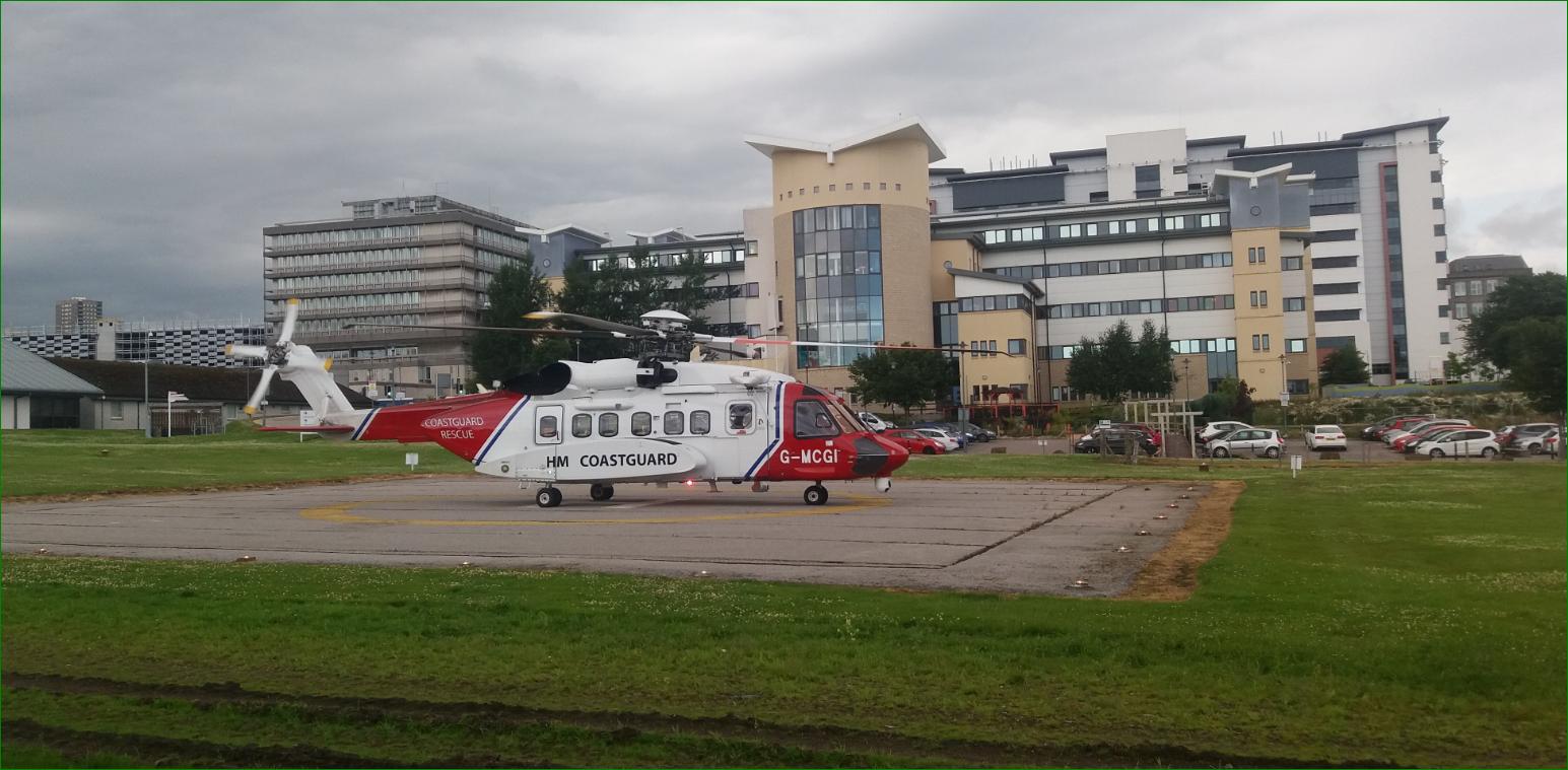 Coastguard helicopter at ARI.