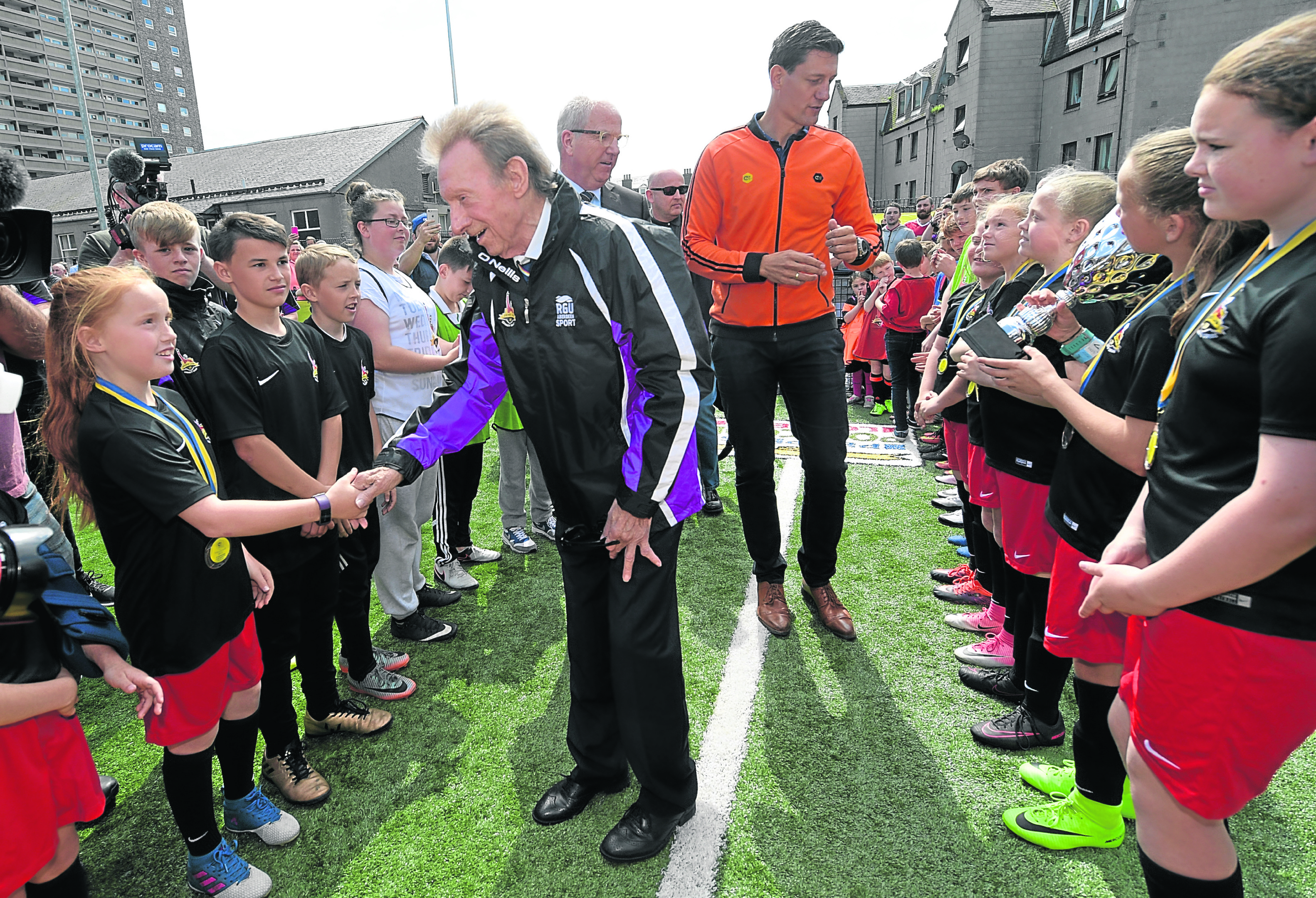 Denis Law opened the city's first Cruyff Court