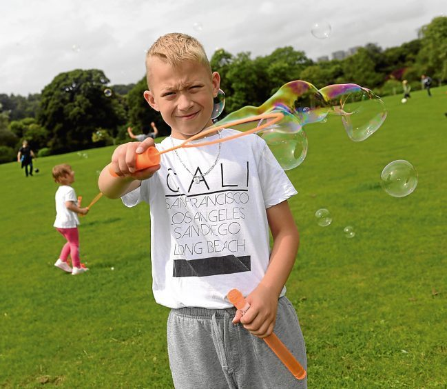 Fun in Focus. Befriend a Child summer outing at Seaton Park. Pictured is Mateusz. 22/07/2017. Picture by KATH FLANNERY