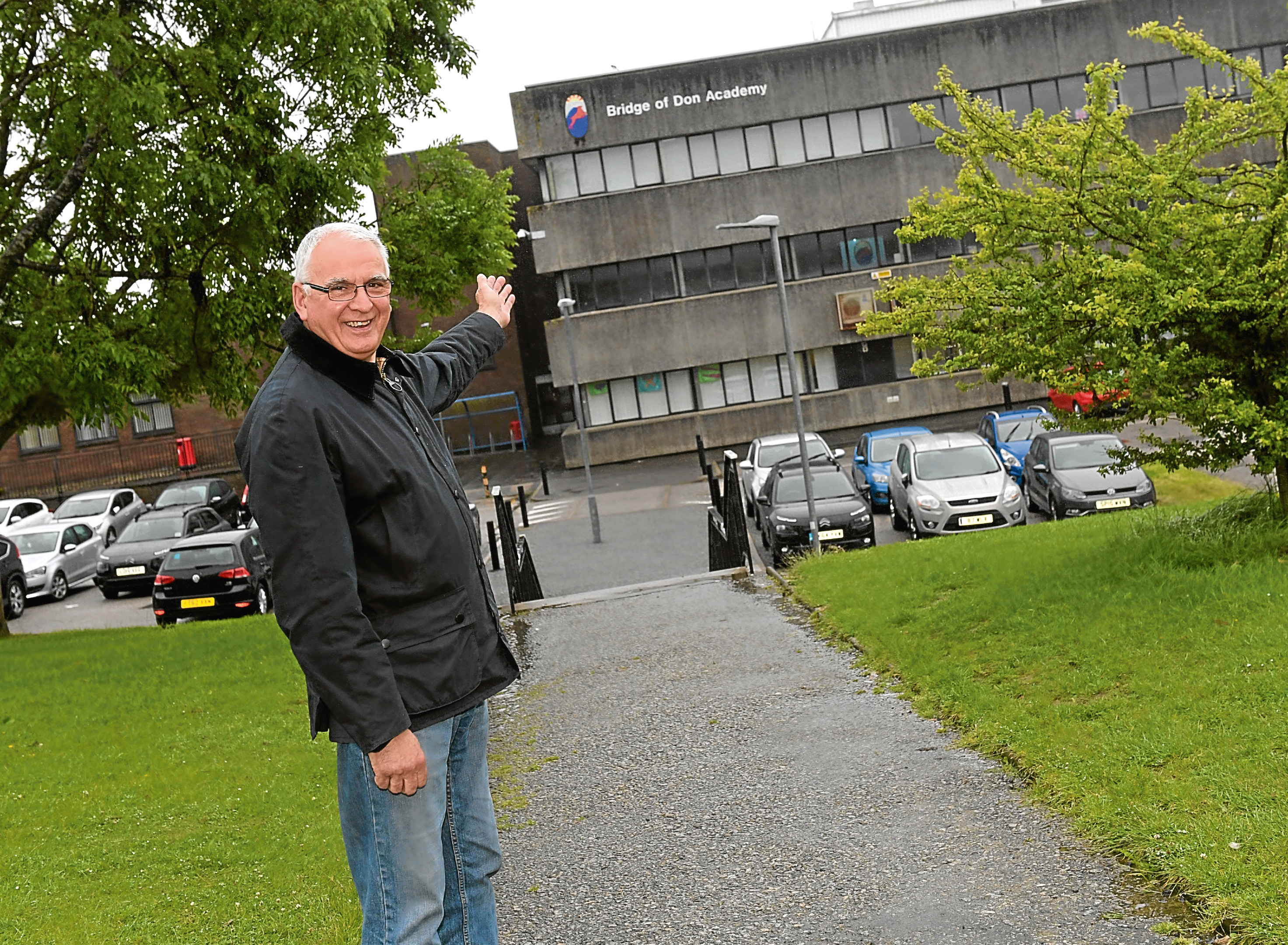 David Chesser has retired after working for 38 years as a janitor at Bridge of Don Academy.