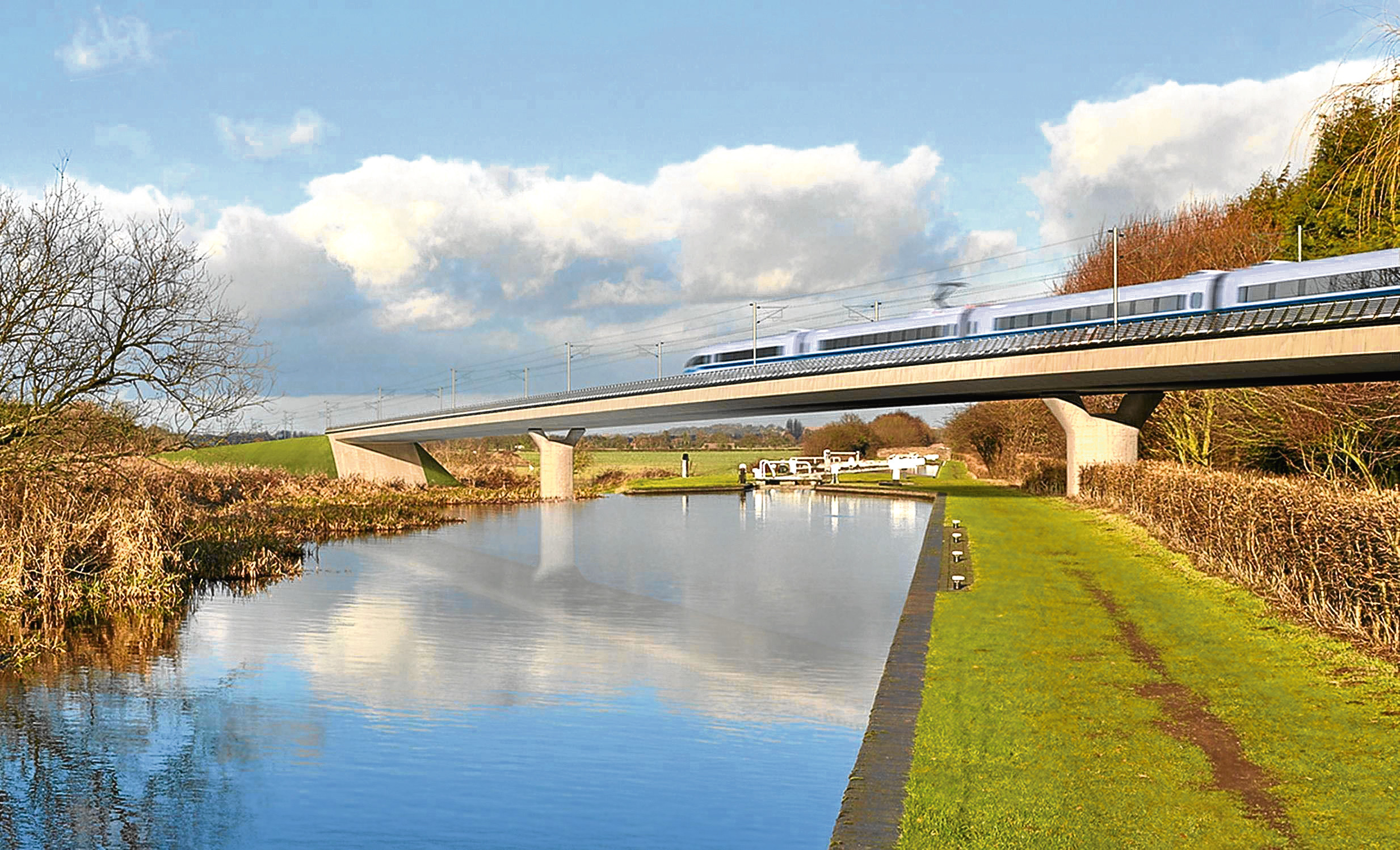 An impression of the HS2 line.