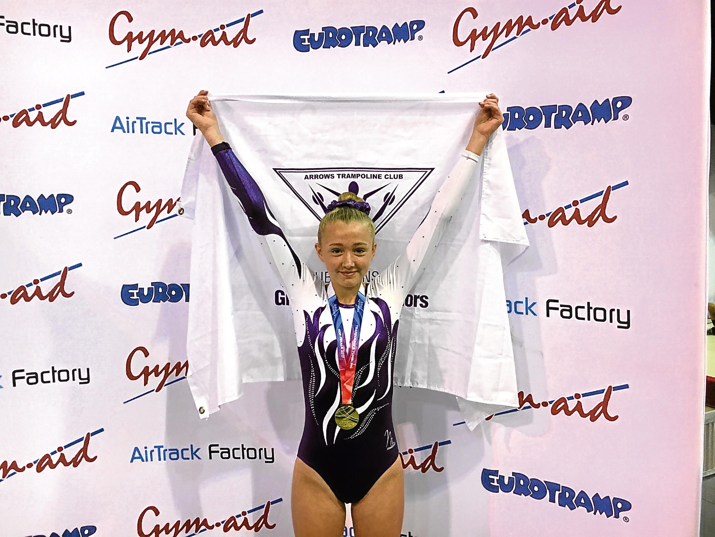 Penny Milnes celebrates her status as British champion.