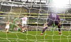 Shaun Maloney scores against the Republic of Ireland for Scotland.