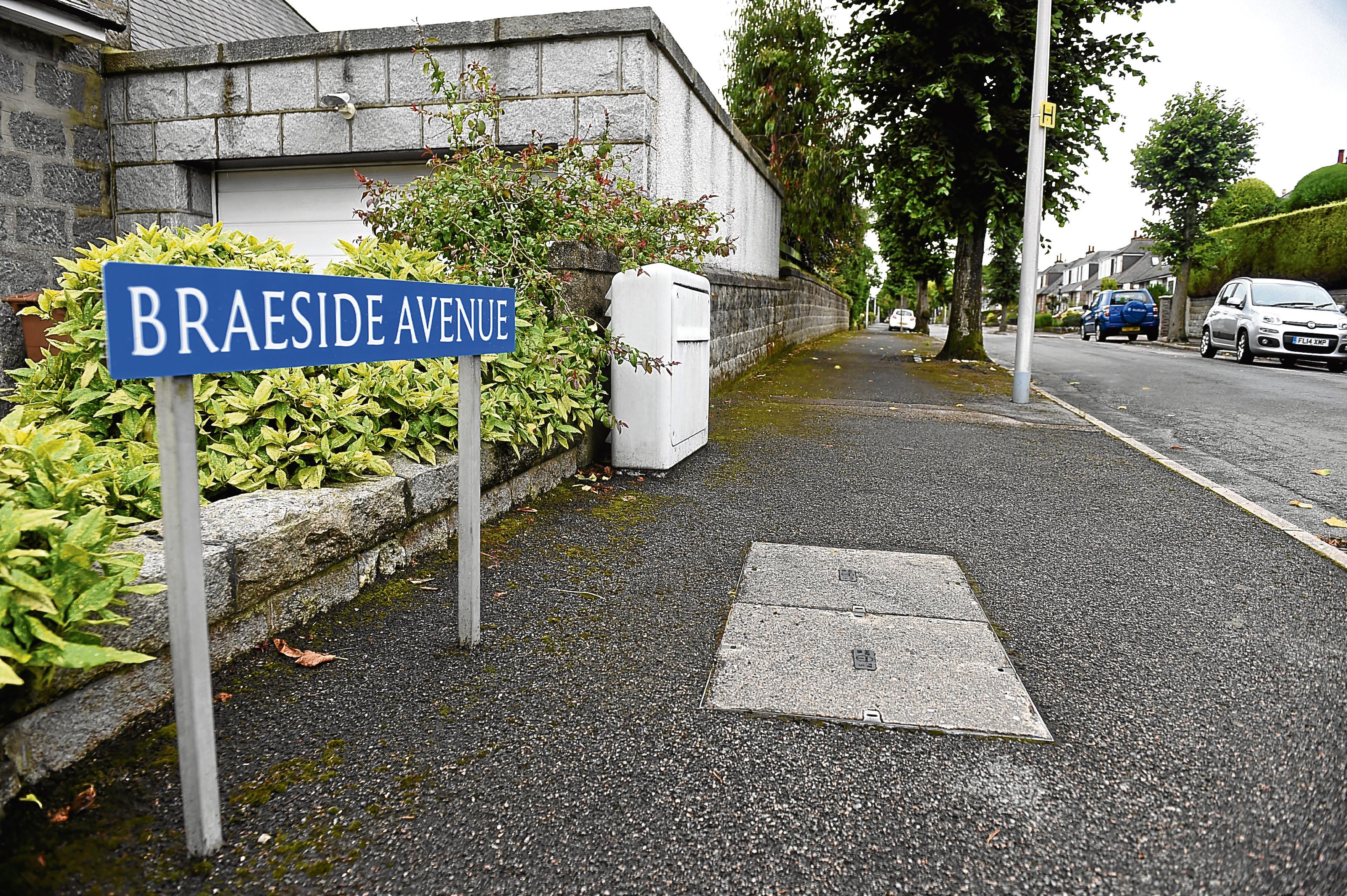 Braeside Avenue, Aberdeen. Picture by DARRELL BENNS