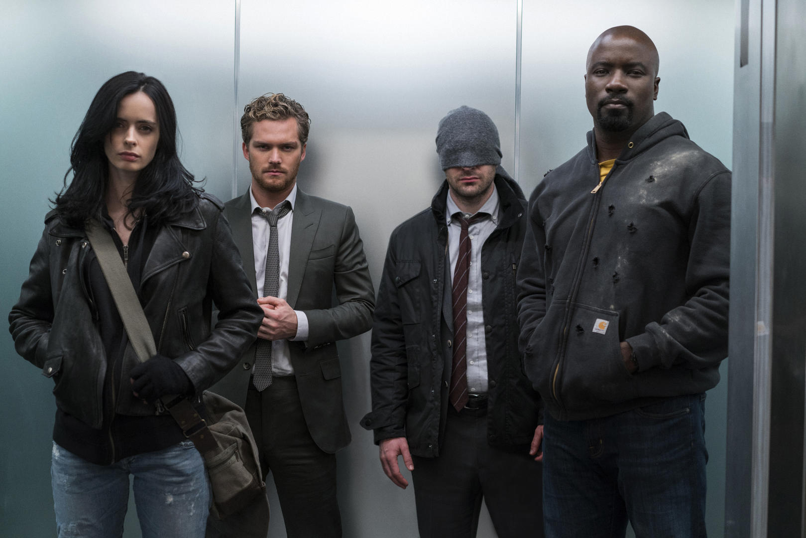 The cast of The Defenders which is coming to Netflix in August.