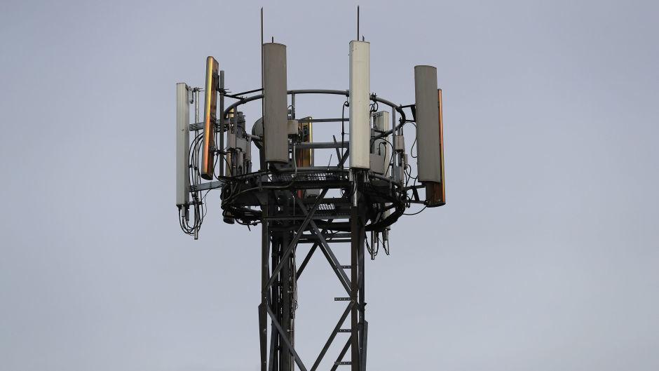 A mobile phone mast