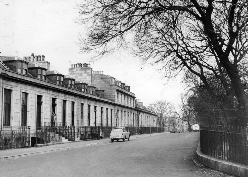 When this picture was taken in 1961 few streets in Aberdeen could match the quiet secluded Marine Terrace in Ferryhill for its elegance.
