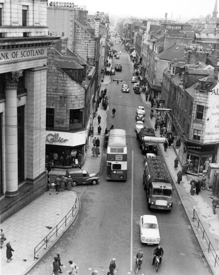 1959: A view from Aberdeen's Union Street looking up St Nicholas Street towards George Street in this busy street scene from 1959.