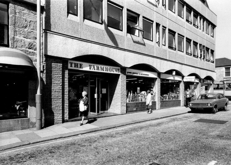 1980: The tasty treats on sale in The Farmhouse food store in Aberdeen's Chapel Street attract customers in 1980.