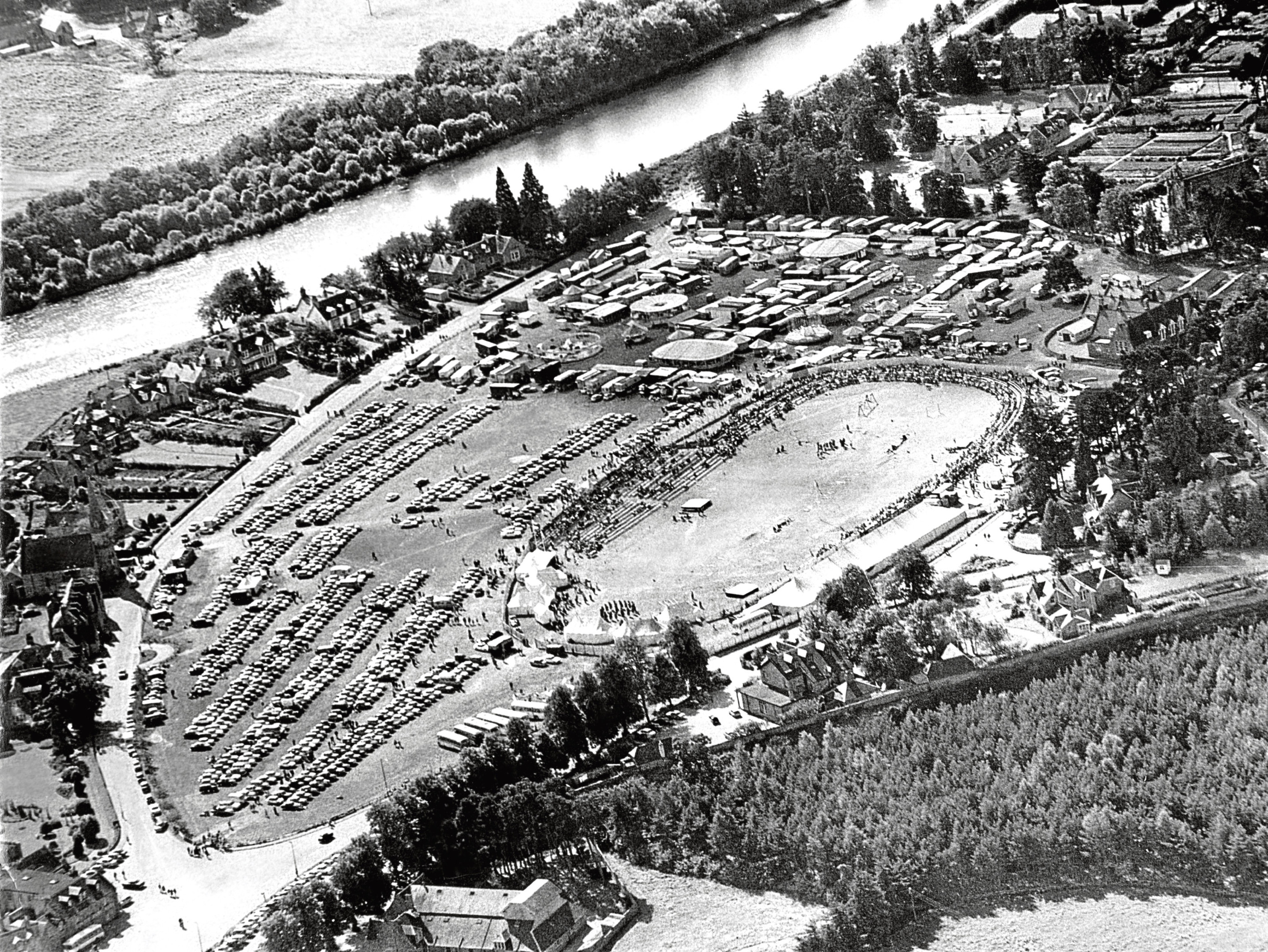 1968: The first aerial view of the Aboyne Games. It was taken by  photographer Jack Cryle.