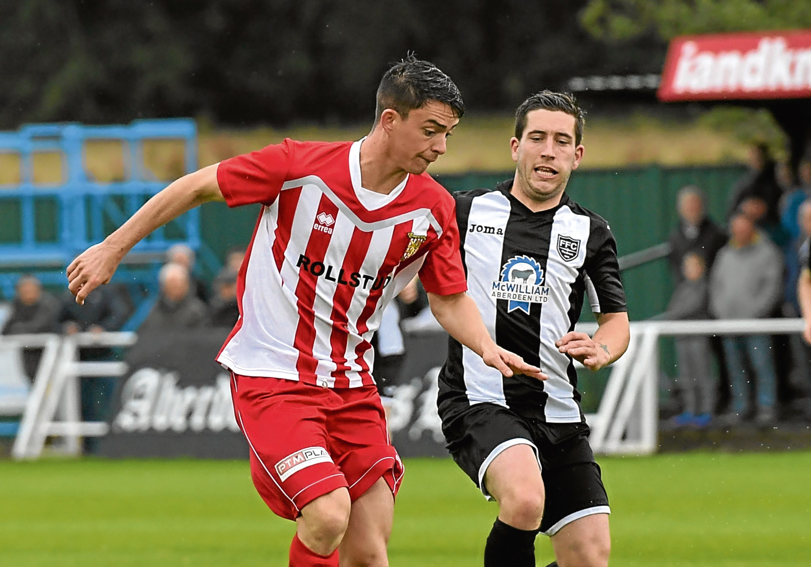 Formartine's Scott Ferries and Fraserburgh's Michael Rae.