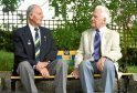 Pictured are World War Two veterans Jim Glennie and Karl Hunnold.