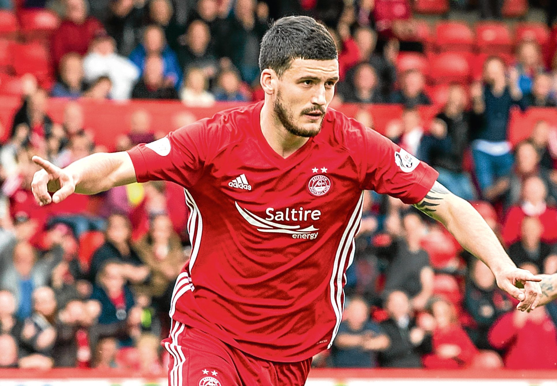 Anthony O'Connor opens the scoring at Pittodrie against Hamilton.