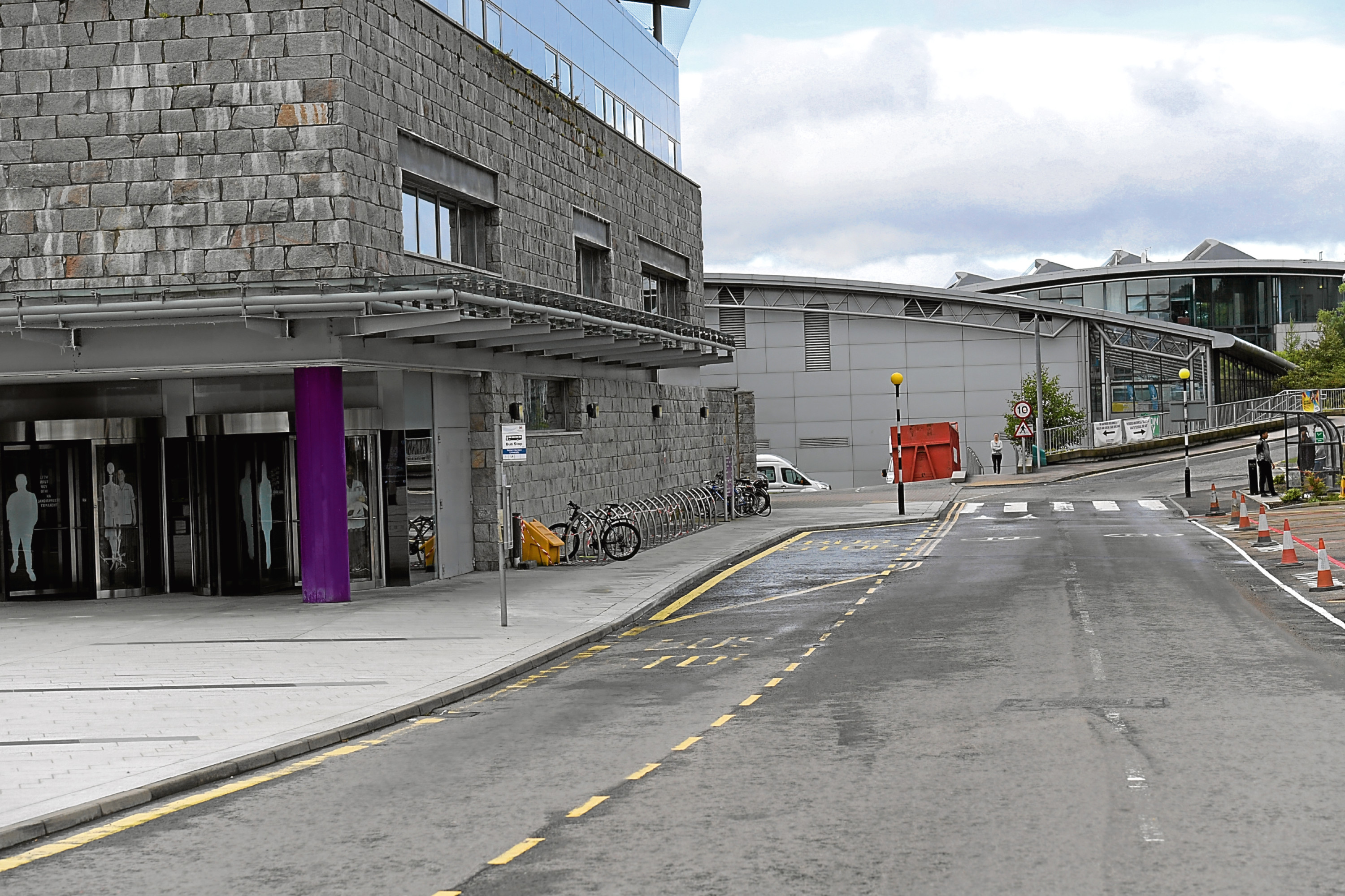 Bus stop inside RGU Campus, which might be moved out onto Garthdee Road. Picture by KATH FLANNERY