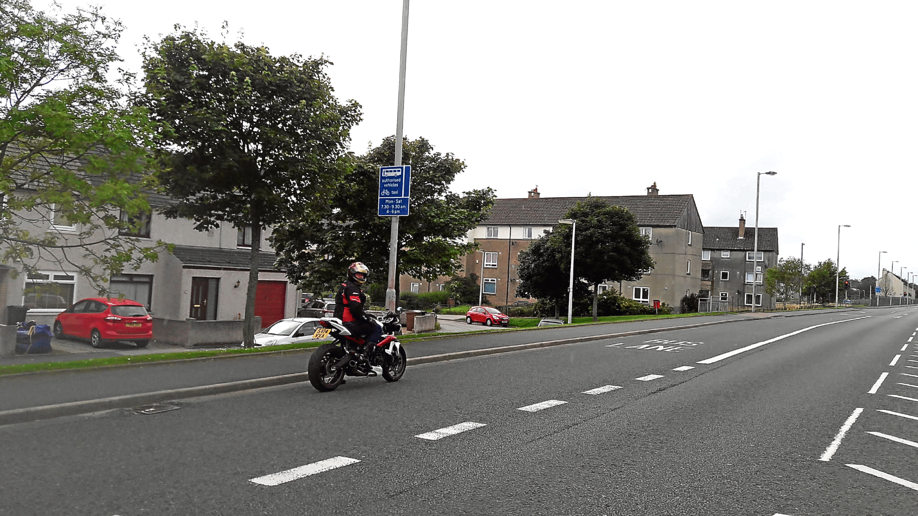 Stewart McCann, pictured, has launched a petition to allow motorbikes to use Aberdeen bus lanes.