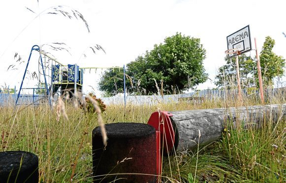 The current playpark site is overgrown