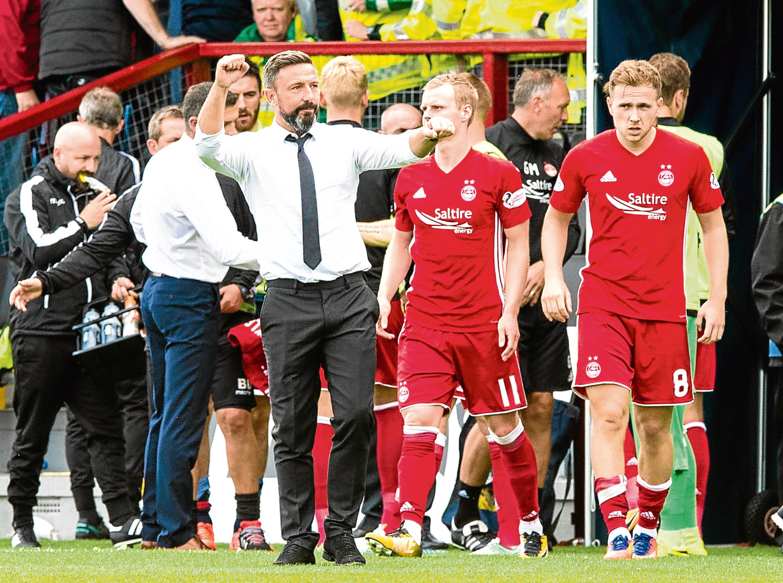 Aberdeen manager Derek McInnes at full time in Dingwall.