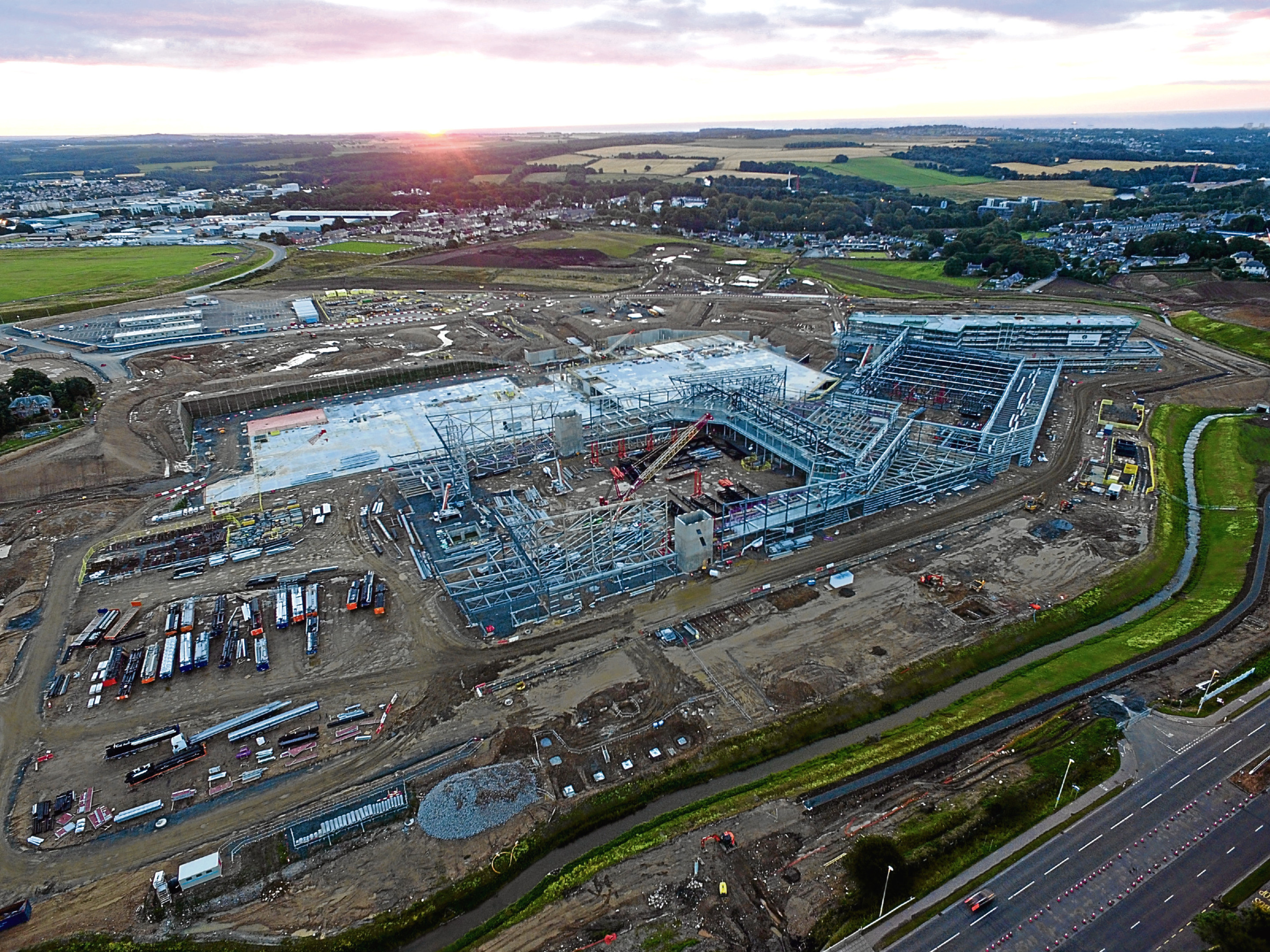 The new Aberdeen Exhibition and Conference Centre is under construction