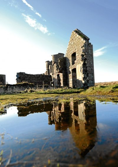2012: Part of the remains of Slains Castle near Cruden Bay.