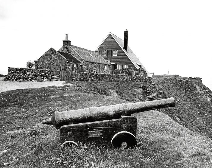 1962: The Countess of  Errol's new home on the headland at Old Castle of Slains.