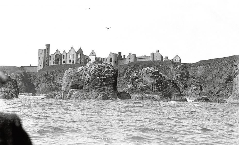 1930s: An early view of the castle. Slains is said to have inspired Bram Stoker to write his classic novel, Dracula.